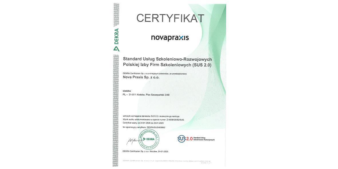 Certyfikat SUV 2.0