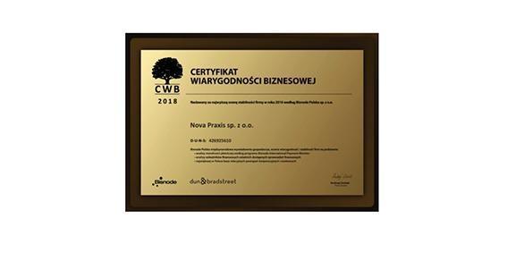 Certyfikat Wiarygodności Gospodarczej